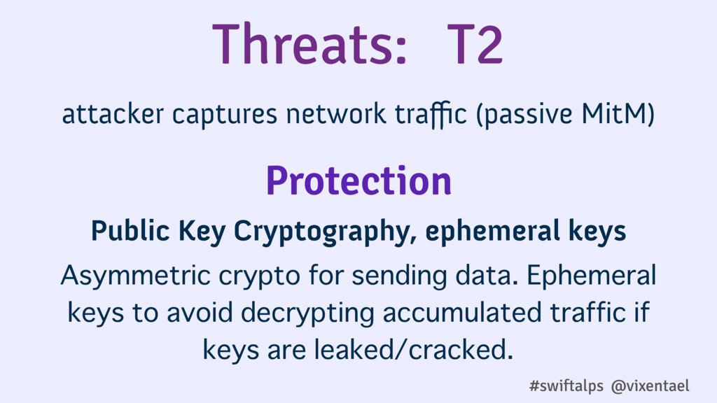 Threats: T2 attacker captures network traffic (pa...