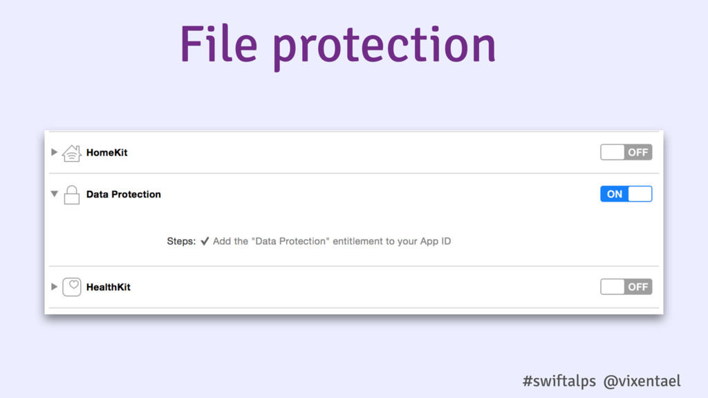 #swiftalps @vixentael File protection