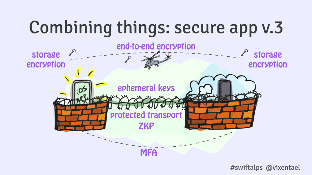 Combining things: secure app v.3 end-to-end enc...