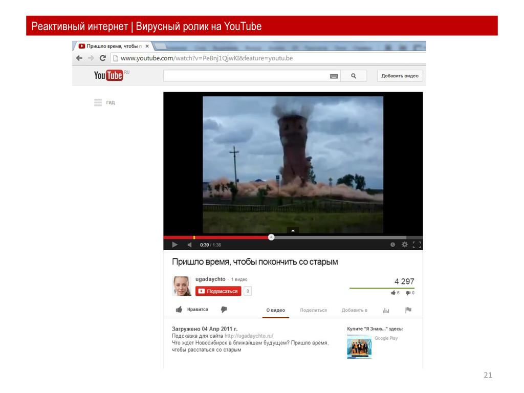 21 Реактивный интернет | Вирусный ролик на YouT...