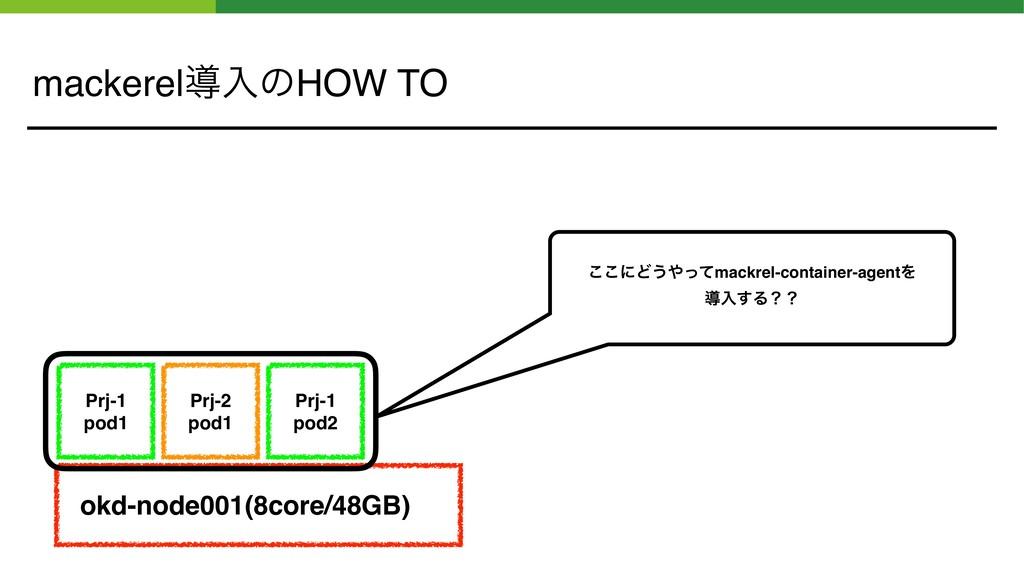 mackerelಋೖͷHOW TO okd-node001(8core/48GB) Prj-2...