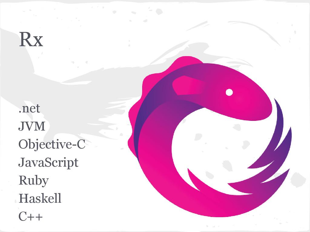 Rx .net JVM Objective-C JavaScript Ruby Haskell...