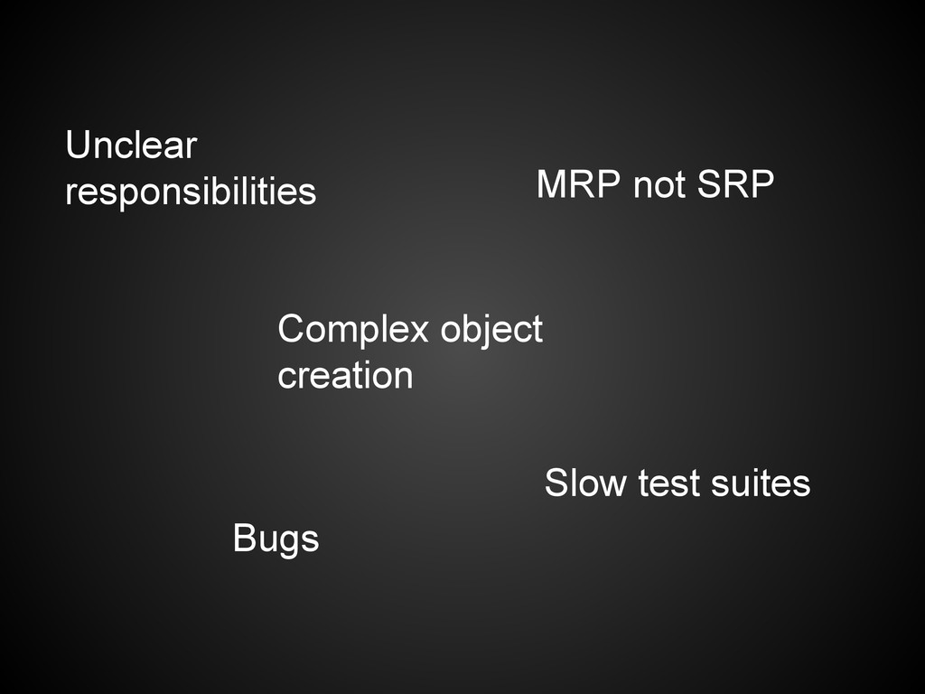 Bugs Unclear responsibilities MRP not SRP Compl...