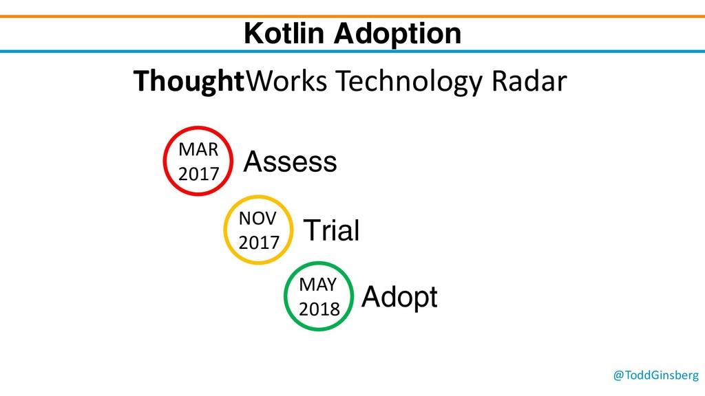 @ToddGinsberg Kotlin Adoption MAR 2017 Assess N...
