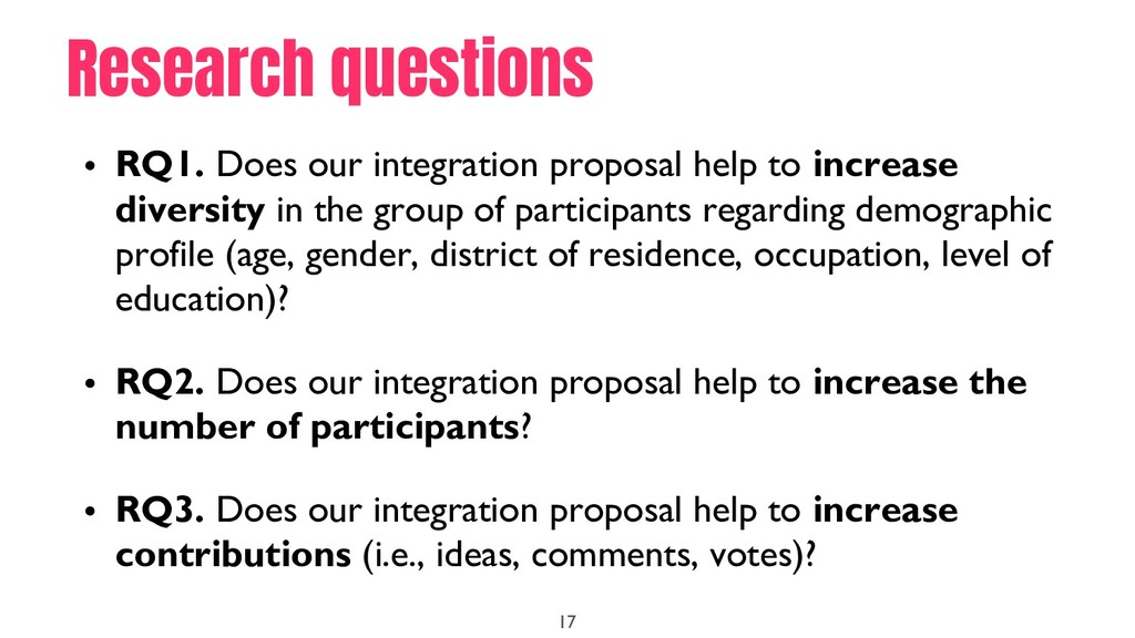 • RQ1. Does our integration proposal help to in...