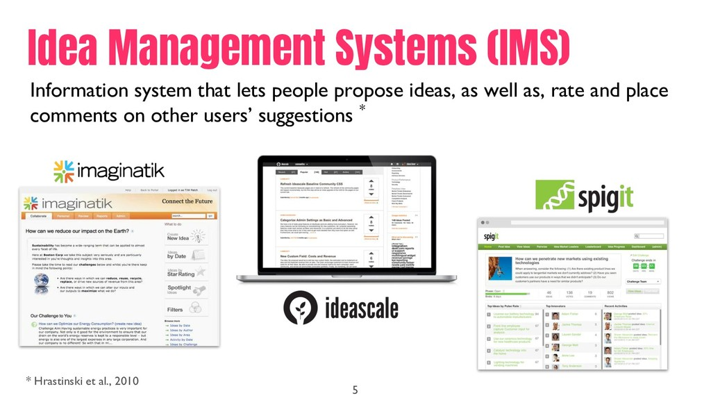 Information system that lets people propose ide...