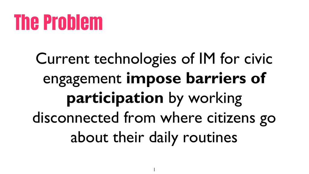 1 Current technologies of IM for civic engageme...