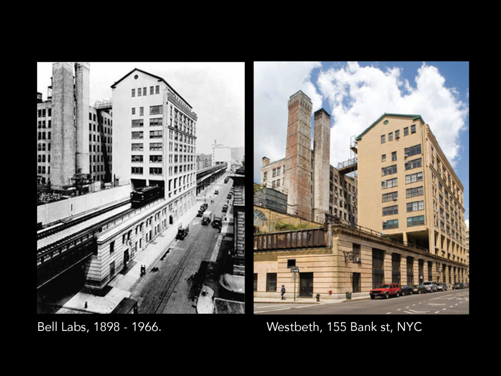 Westbeth, 155 Bank st, NYC Bell Labs, 1898 - 19...