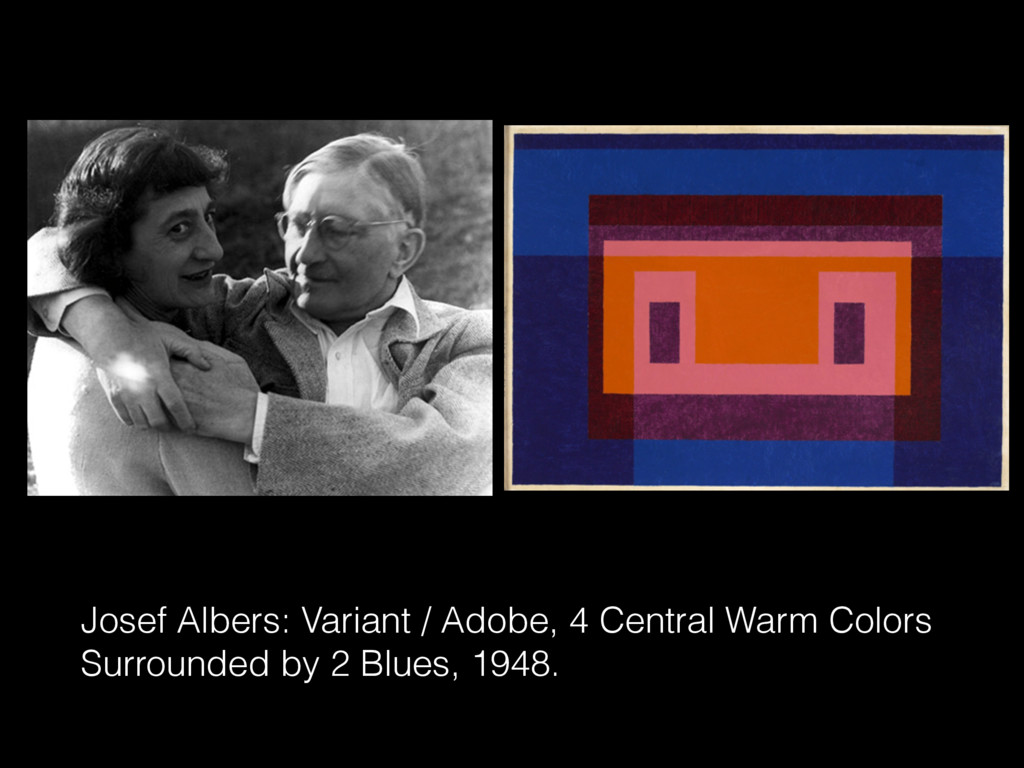 Josef Albers: Variant / Adobe, 4 Central Warm C...