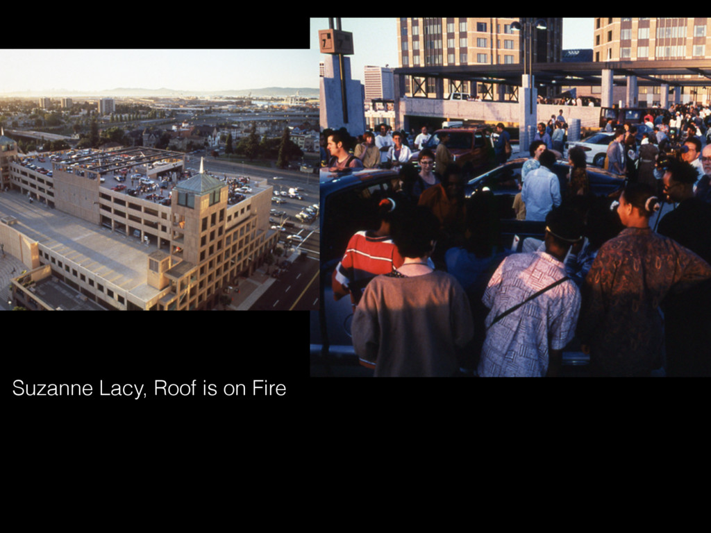 Suzanne Lacy, Roof is on Fire