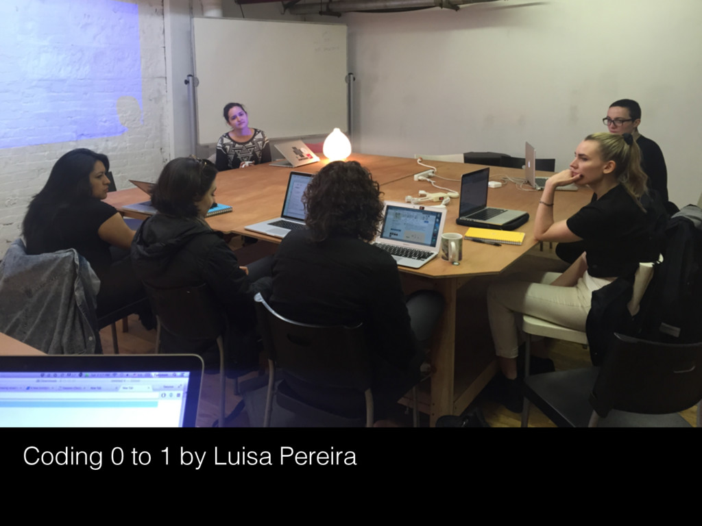 Coding 0 to 1 by Luisa Pereira