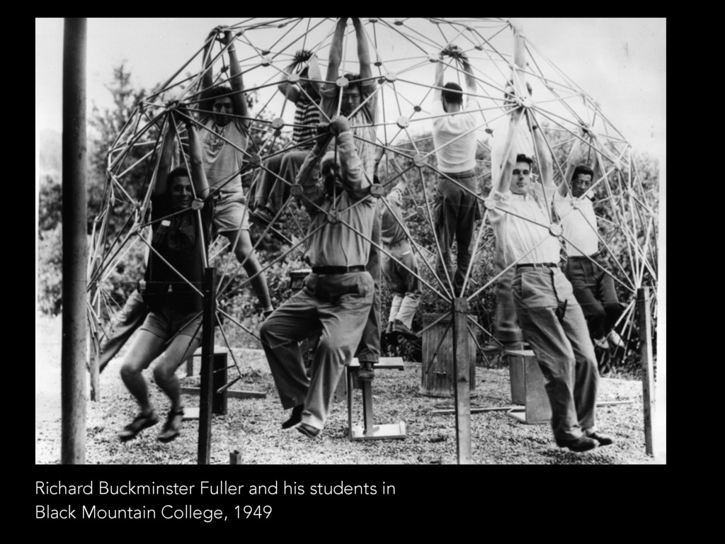 Richard Buckminster Fuller and his students in ...
