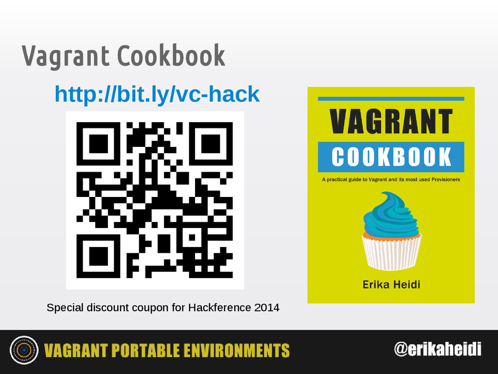 Vagrant Cookbook Special discount coupon for Ha...