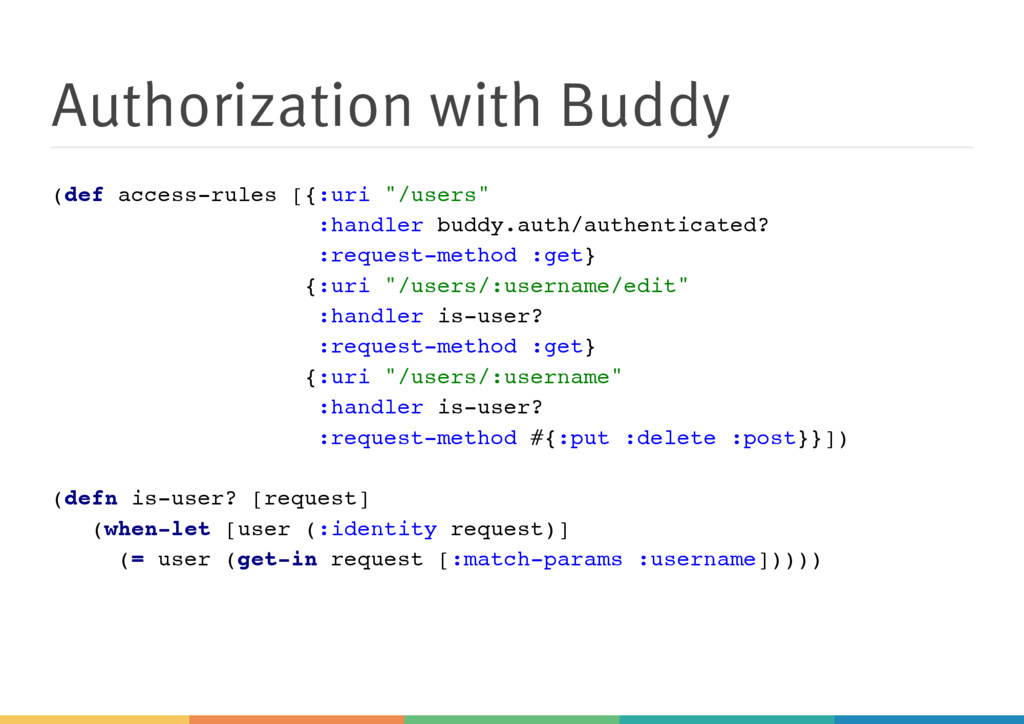 Authorization with Buddy ( d e f a c c e s s - ...