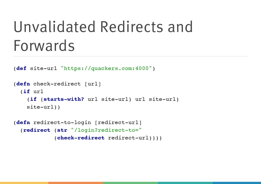 Unvalidated Redirects and Forwards ( d e f s i ...