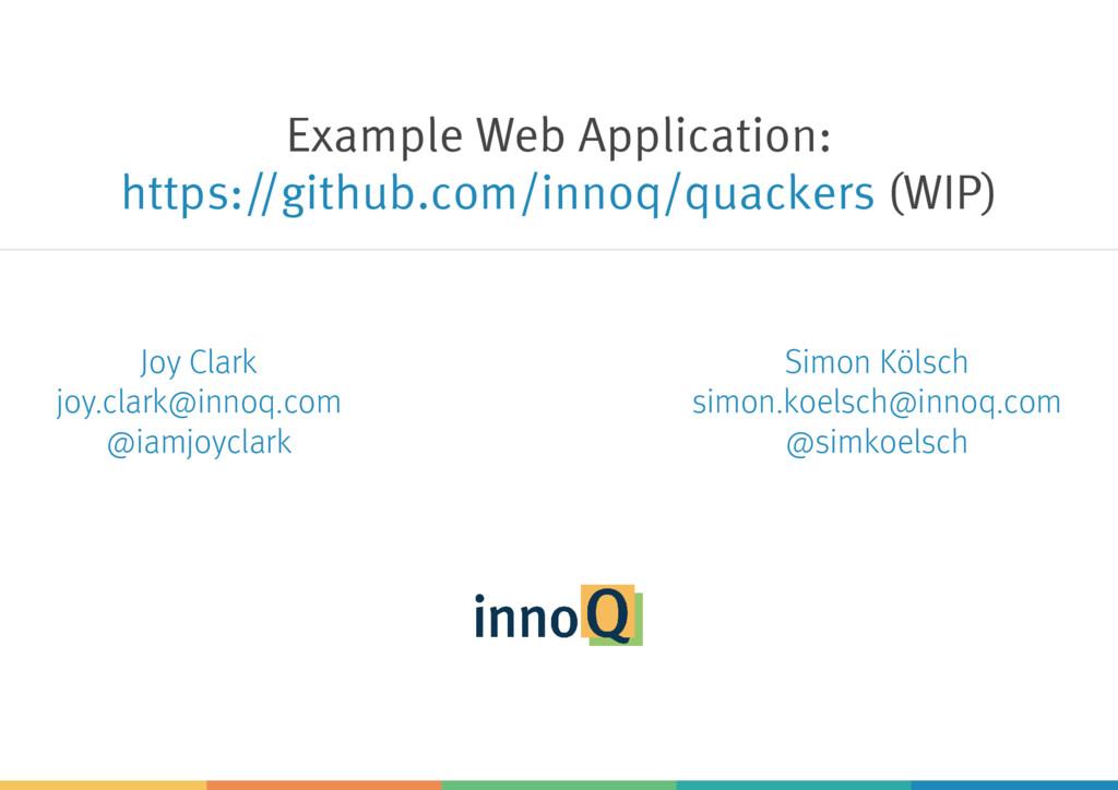 Example Web Application: (WIP) https://github.c...