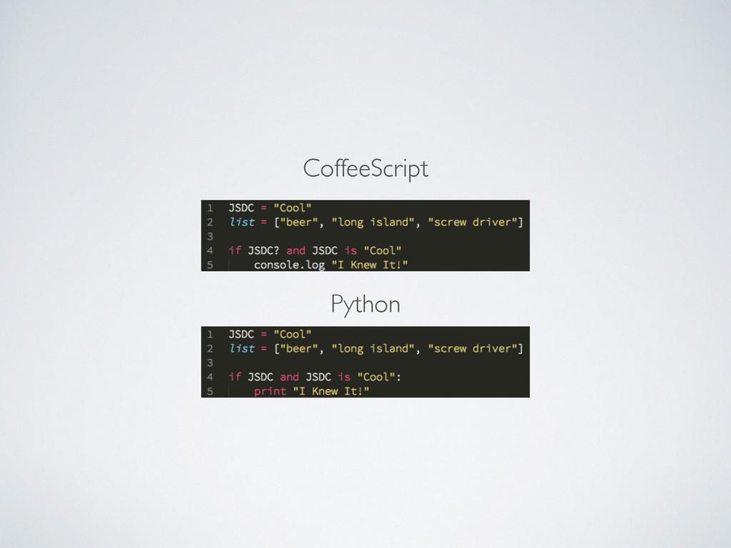 Python CoffeeScript