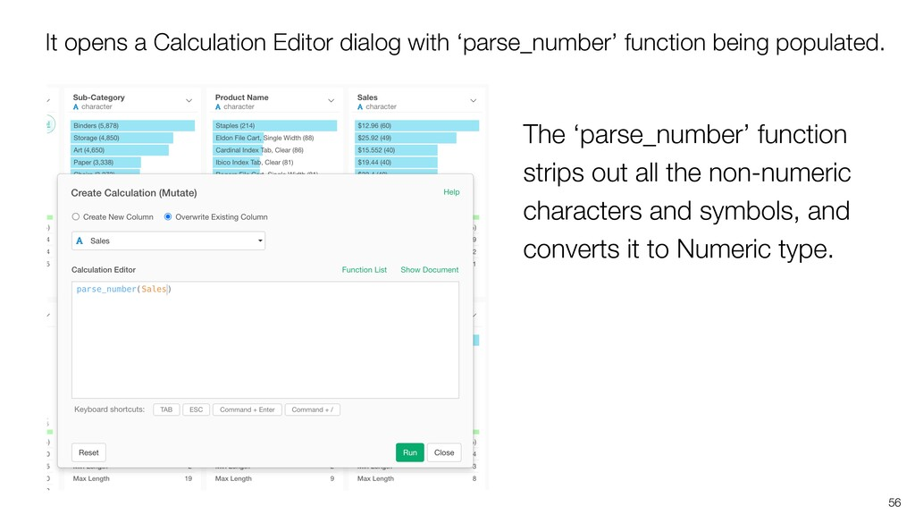 56 The 'parse_number' function strips out all t...
