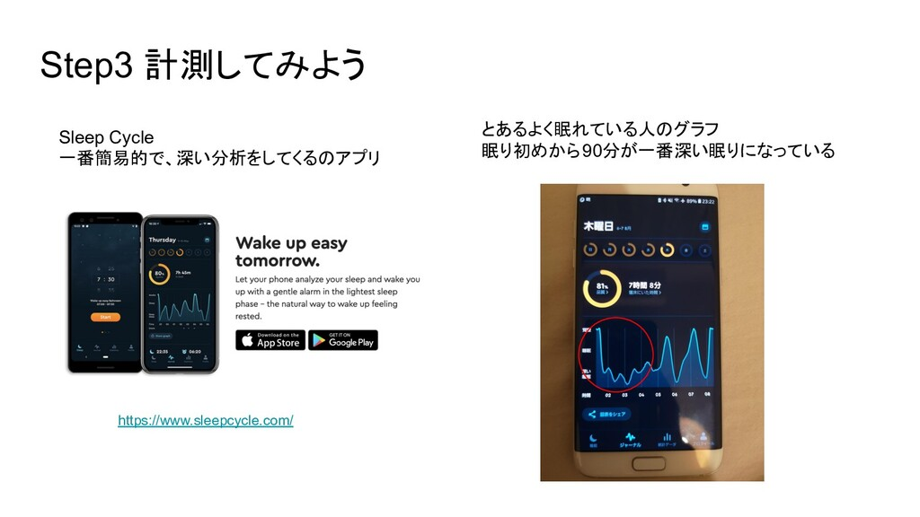 Step3 計測してみよう Sleep Cycle 一番簡易的で、深い分析をしてくるのアプリ ...