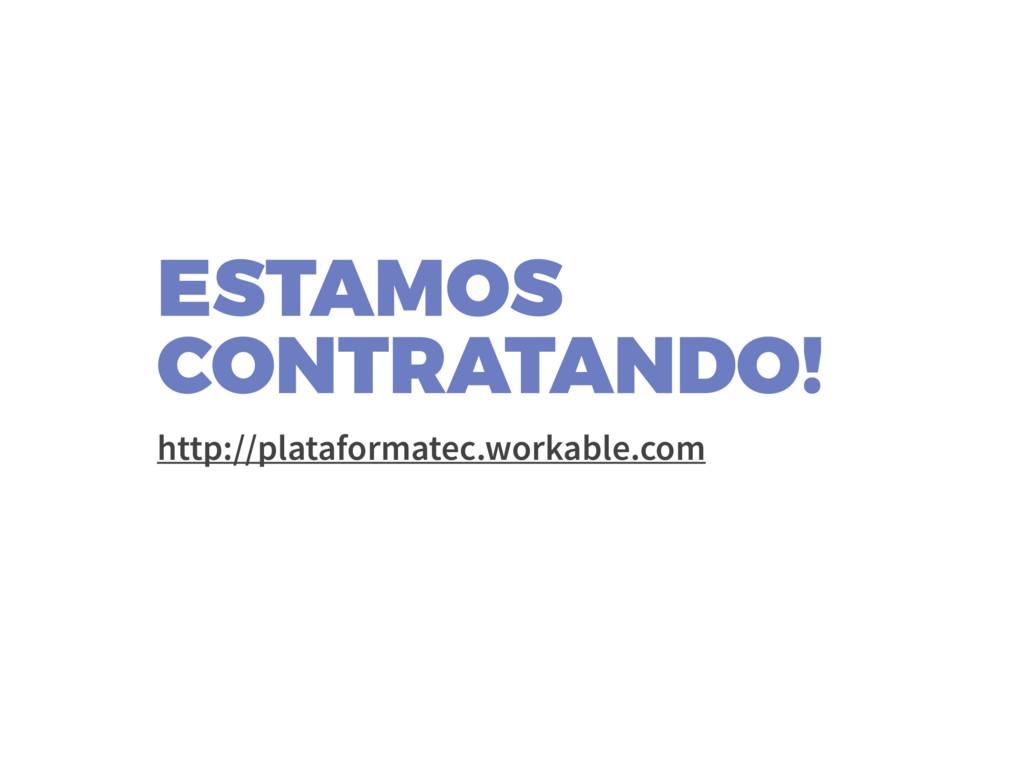 ESTAMOS CONTRATANDO! http://plataformatec.work...