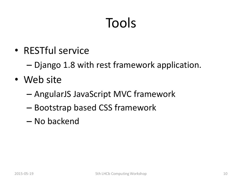 Tools • RESTful service – Django 1.8 with rest ...