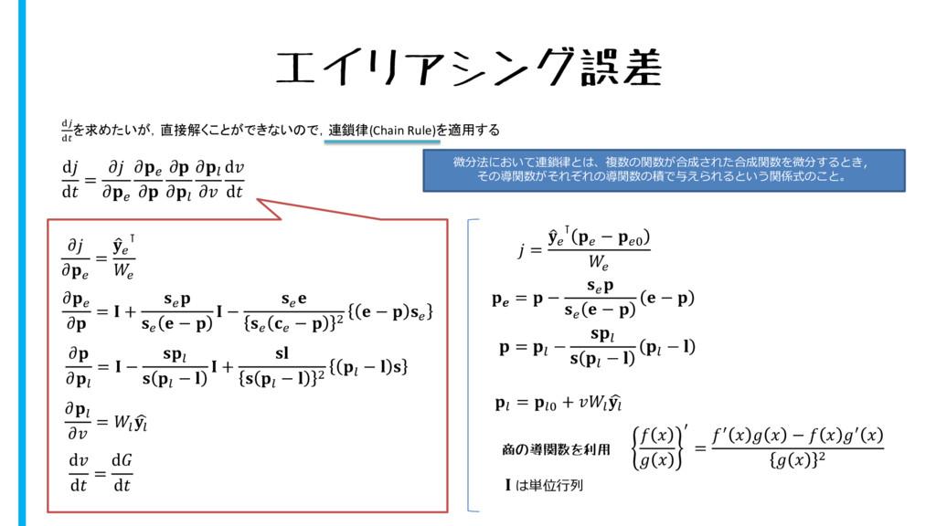 エイリアシング誤差 d d =         d d   =   ⊺     =  +   ...