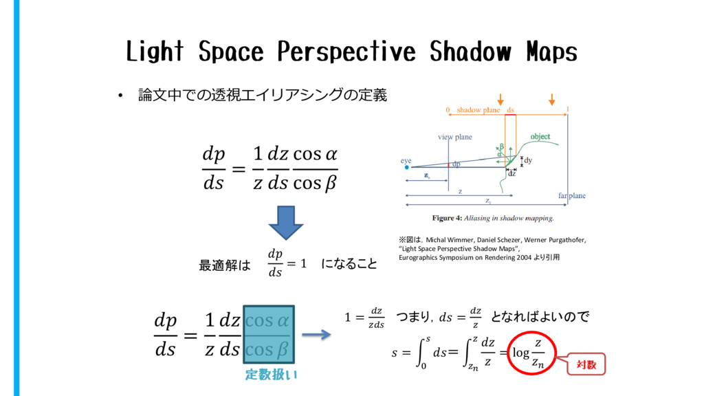 Light Space Perspective Shadow Maps • 論文中での透視エイ...