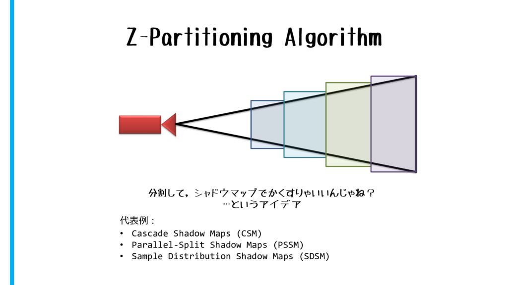 Z-Partitioning Algorithm 代表例: • Cascade Shadow ...