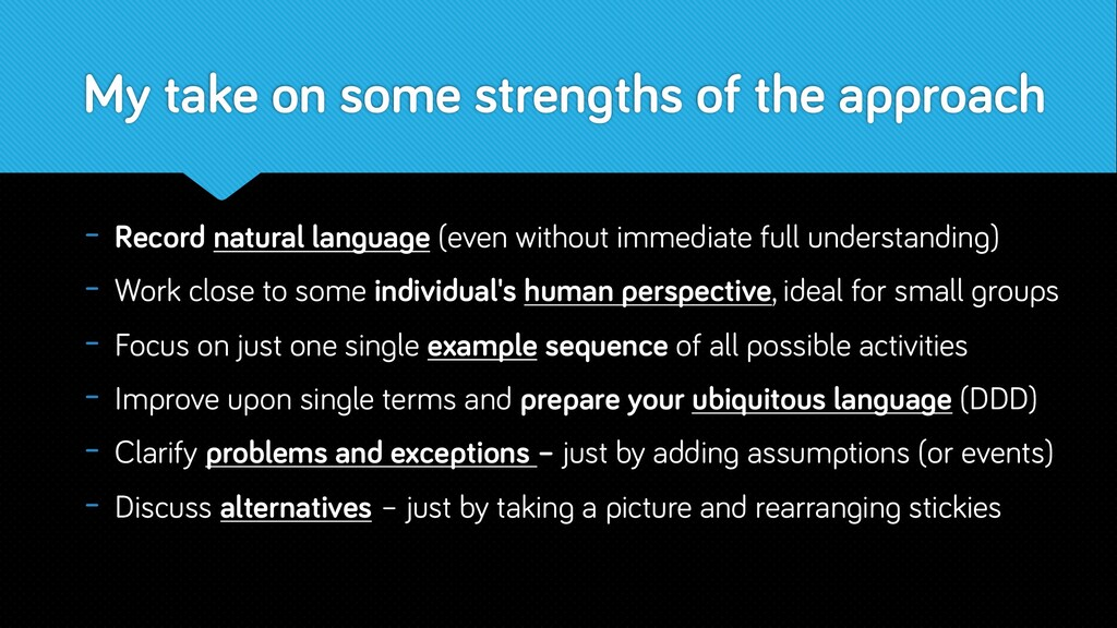 My take on some strengths of the approach - Rec...