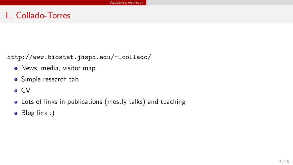 Academic web-tour L. Collado-Torres http://www....