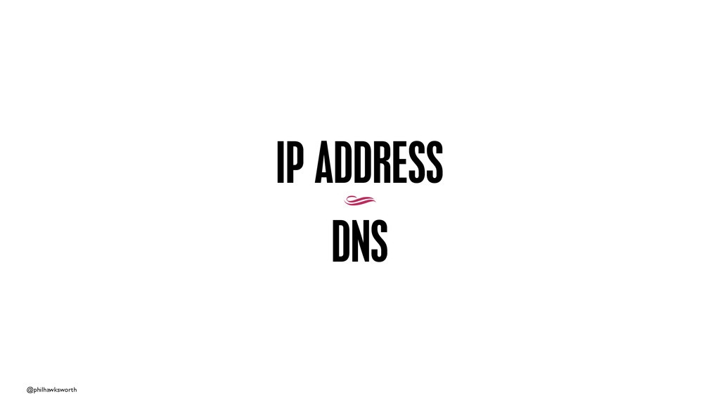 @philhawksworth IP ADDRESS 9 DNS