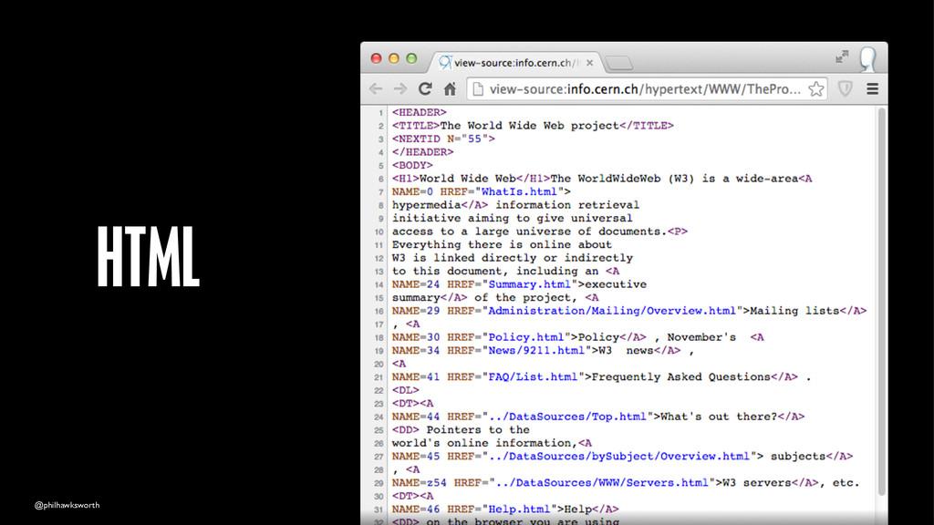 @philhawksworth HTML