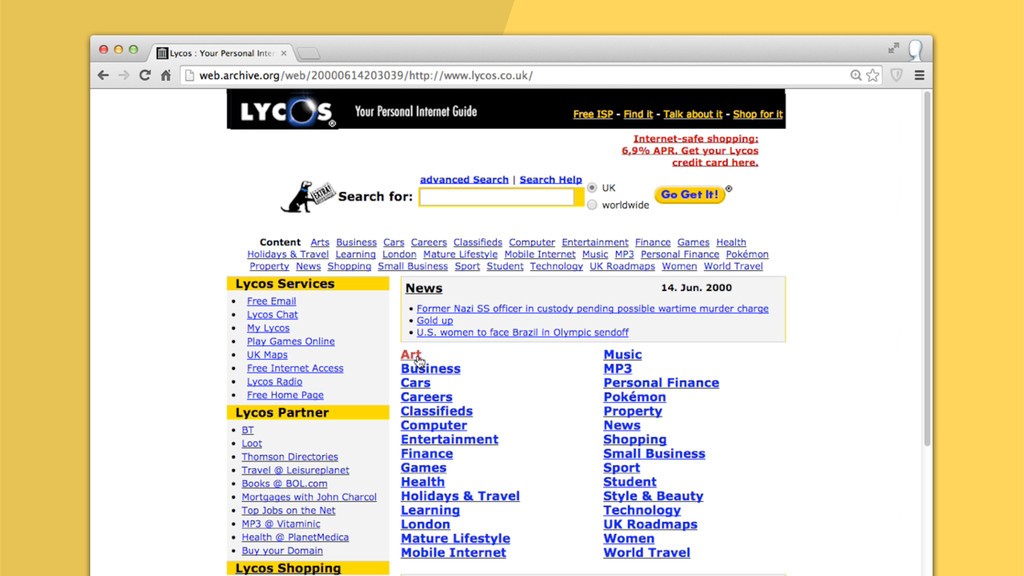 LYCOS.CO.UK CIRCA 1999/2000