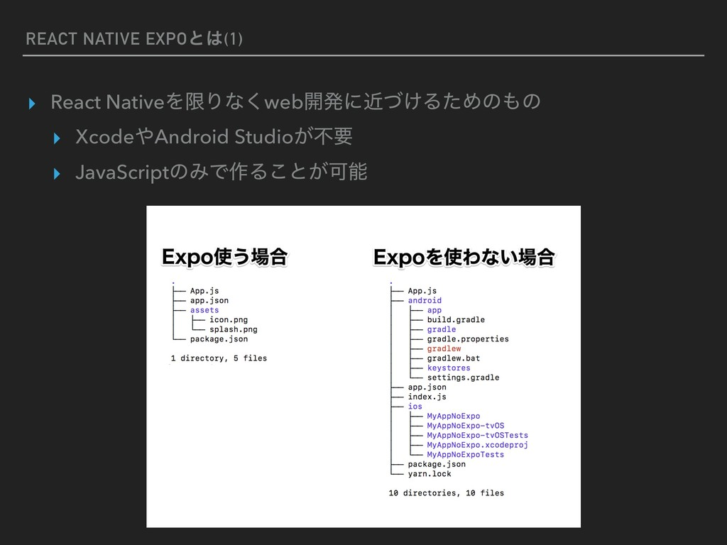 REACT NATIVE EXPOͱ͸(1) ▸ React NativeΛݶΓͳ͘web։ൃ...