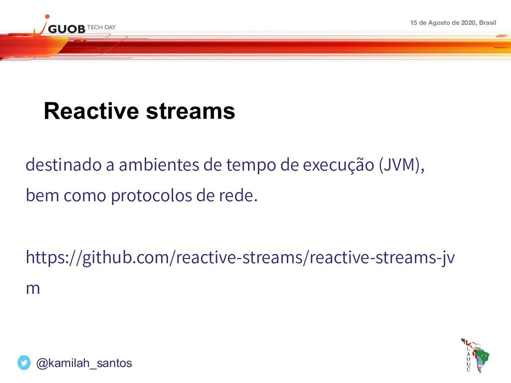 15 de Agosto de 2020, Brasil Reactive streams d...