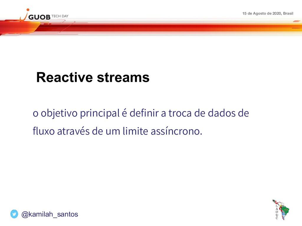 15 de Agosto de 2020, Brasil Reactive streams o...