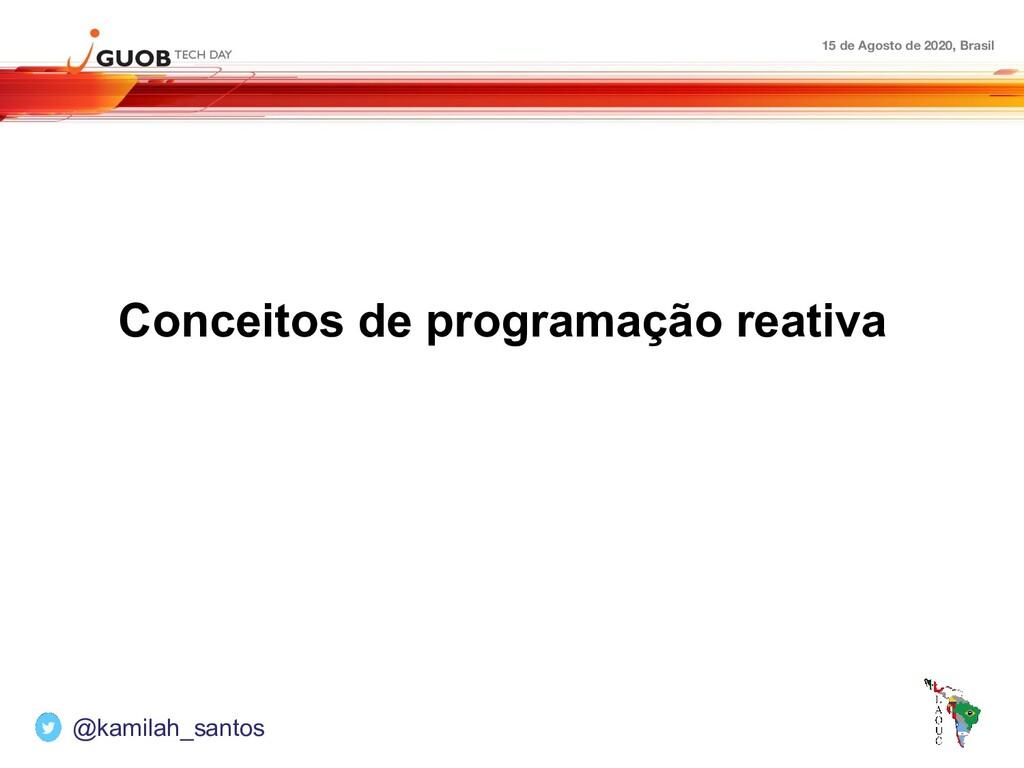 15 de Agosto de 2020, Brasil Conceitos de progr...
