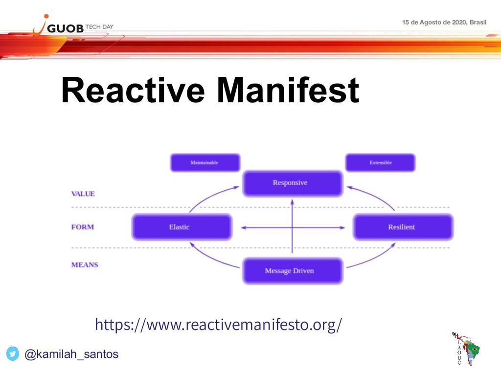 15 de Agosto de 2020, Brasil Reactive Manifest ...
