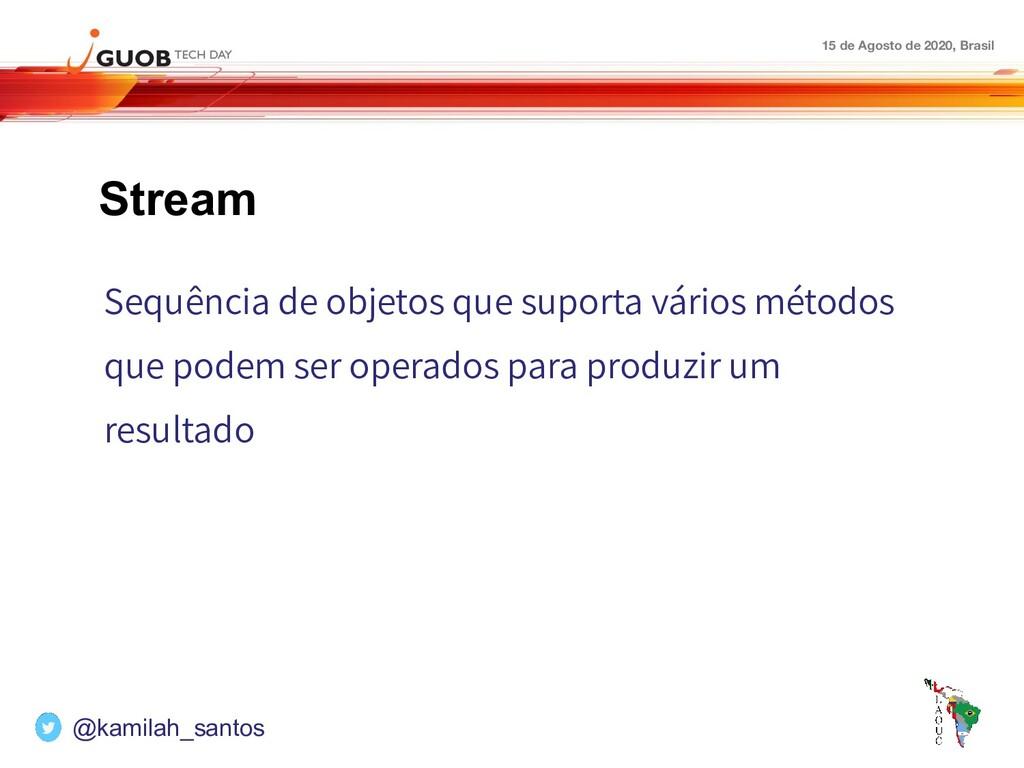 15 de Agosto de 2020, Brasil Stream Sequência d...
