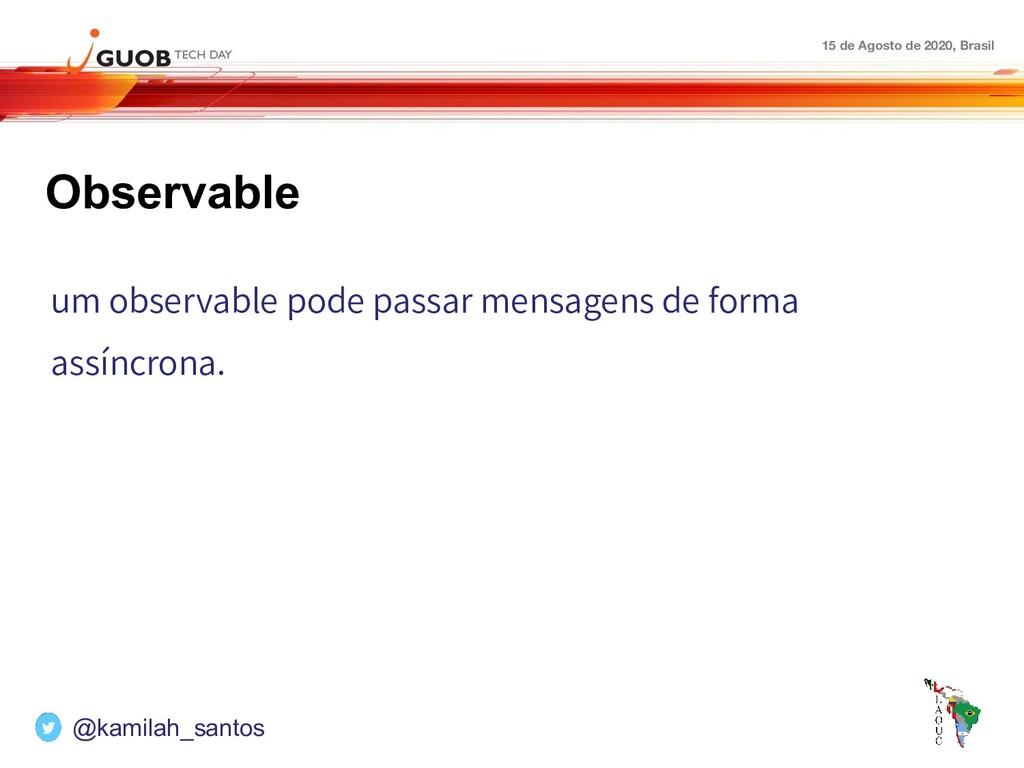 15 de Agosto de 2020, Brasil Observable um obse...