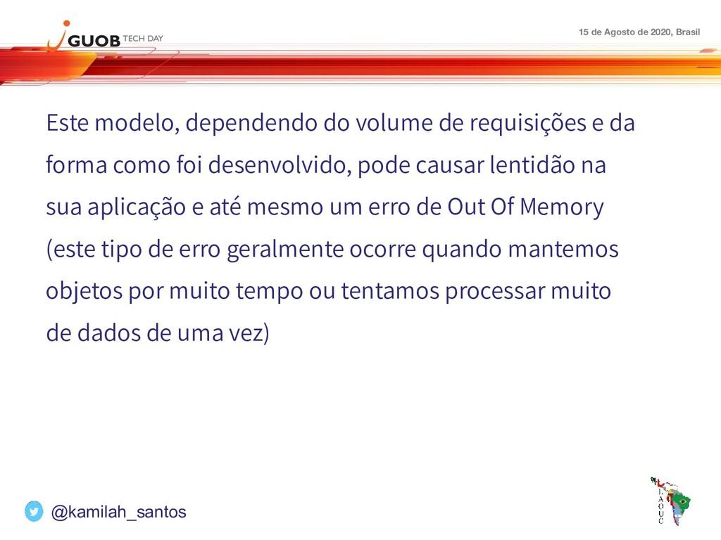 15 de Agosto de 2020, Brasil Este modelo, depen...
