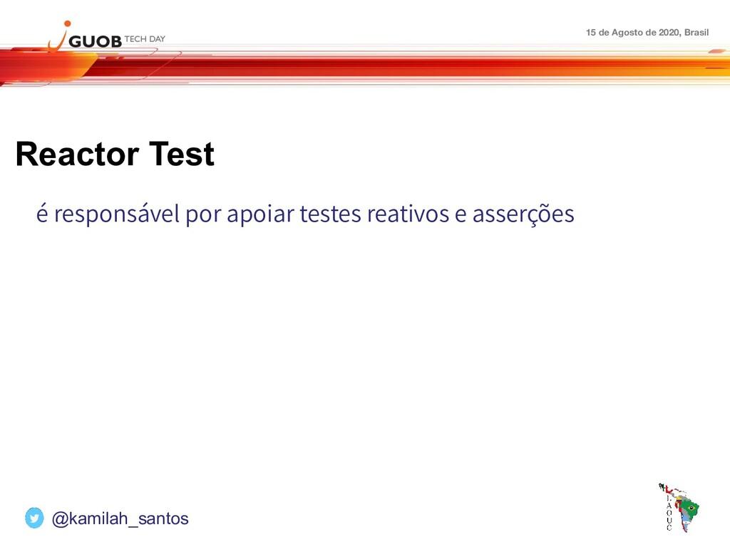 15 de Agosto de 2020, Brasil Reactor Test é res...