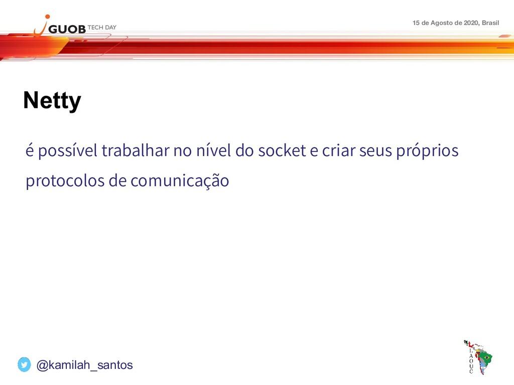 15 de Agosto de 2020, Brasil Netty é possível t...