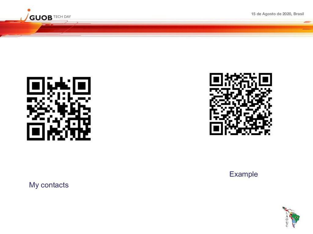 15 de Agosto de 2020, Brasil My contacts Example