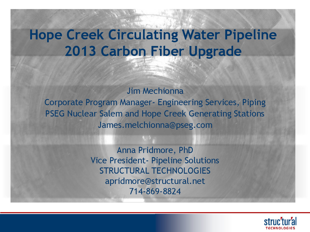 Hope Creek Circulating Water Pipeline 2013 Carb...