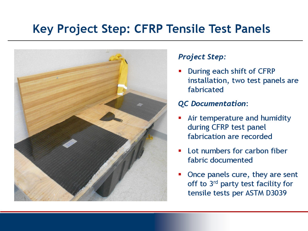 Key Project Step: CFRP Tensile Test Panels Proj...