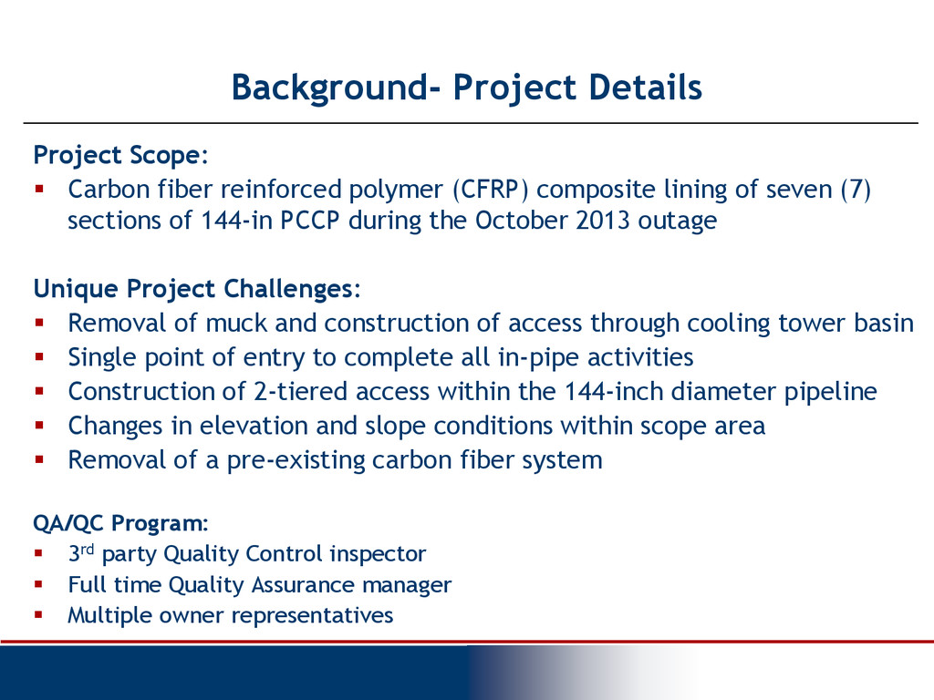 Background- Project Details Project Scope:  Ca...