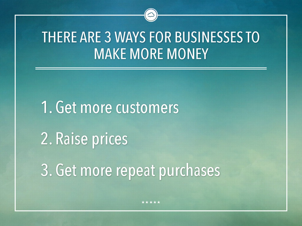 THERE ARE 3 WAYS FOR BUSINESSES TO MAKE MORE MO...