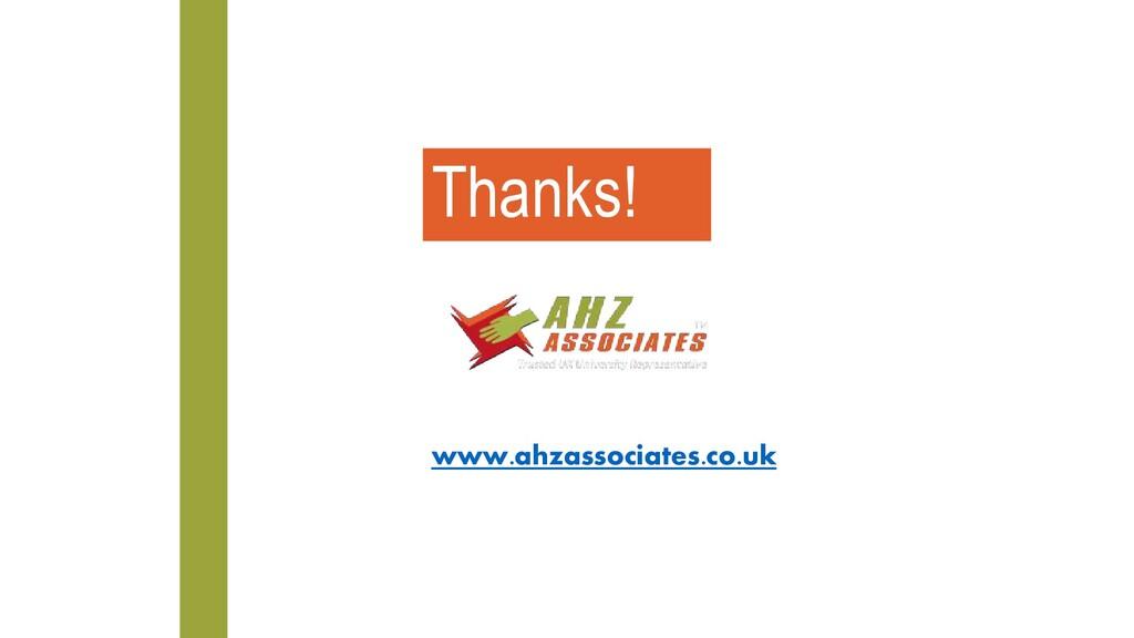 www.ahzassociates.co.uk Thanks!