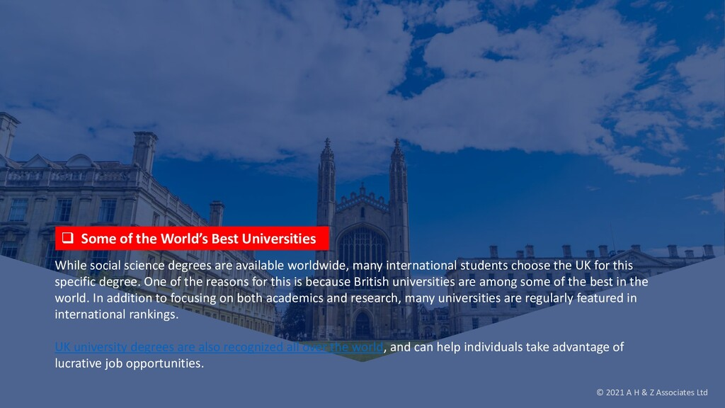  Some of the World's Best Universities While s...